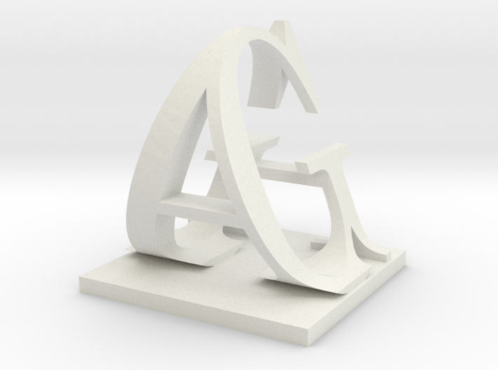 Two way letter / initial G&A XXL 3d printed