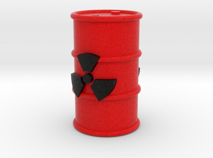 Radioactive Barrel, Red 3d printed