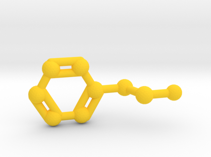 Phenethylamine Molecule Keychain Pendant 3d printed Phenethylamine Molecule Keychain Pendant