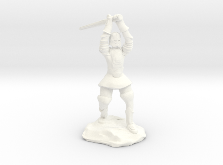 Human Paladin Zealot of Pelor With Longsword 3d printed