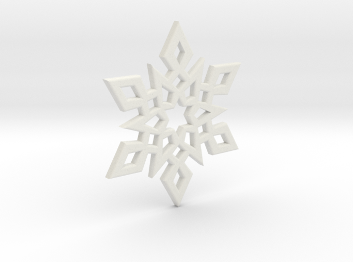 Snowflake Charm 2 3d printed