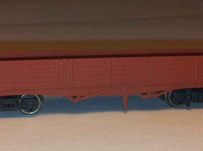 LNER Brick Wagon Kit 3d printed Fitted with Farish wagon wheels and couplings