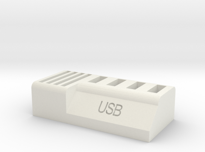 Usb and Sd card holder 3d printed