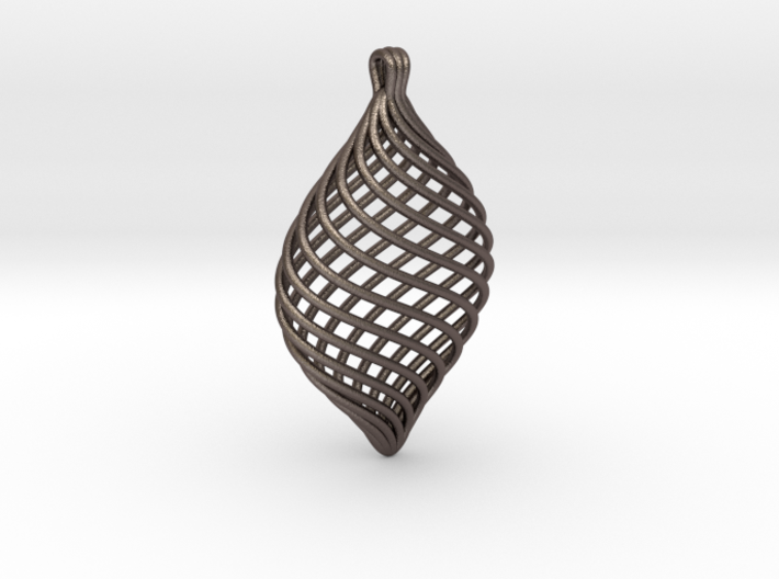 Twisted Pendant 3d printed