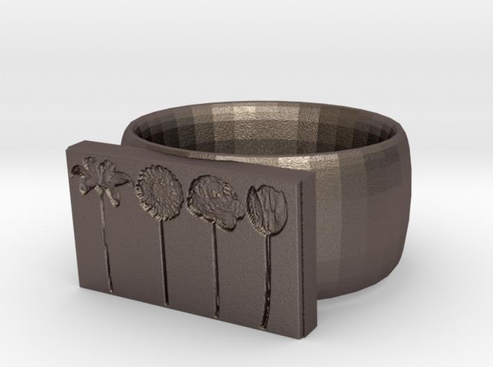Flower Ring Version 9 3d printed