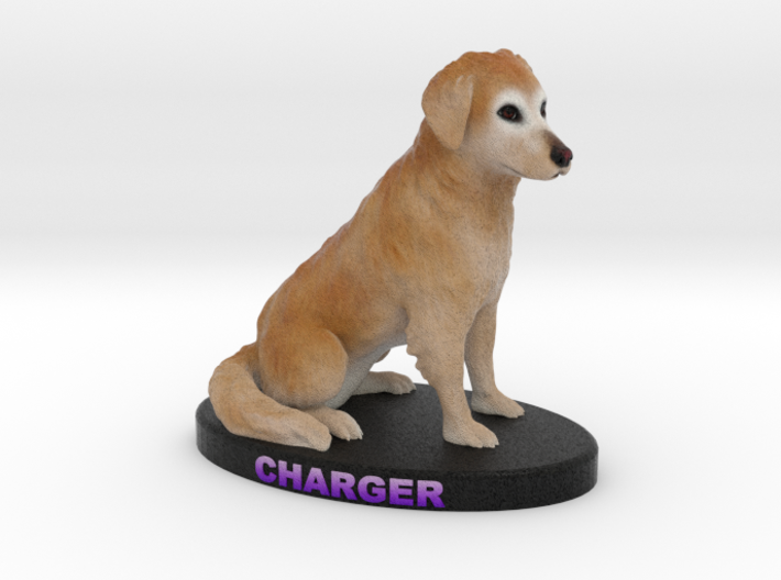 Custom Dog Figurine - Charger 3d printed