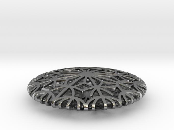 Dandelion seeds pendant 3d printed
