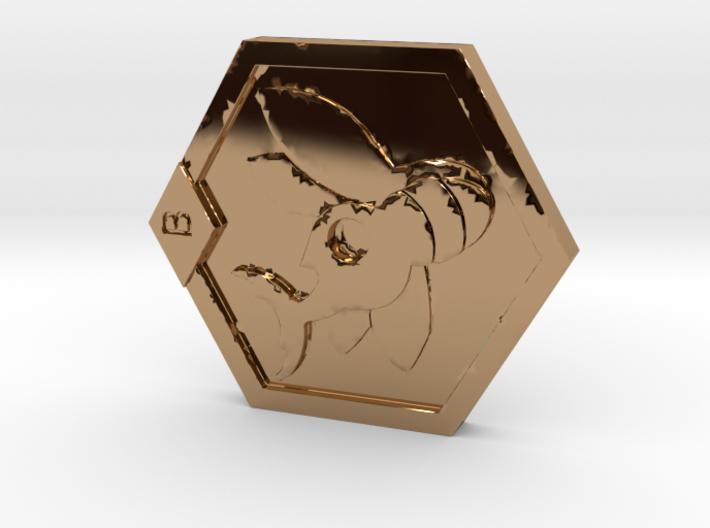 Medabots Kabuto Medal Tribute art V1 3d printed