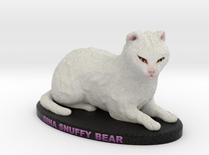 Custom Cat Figurine - Snuffy Bear 3d printed