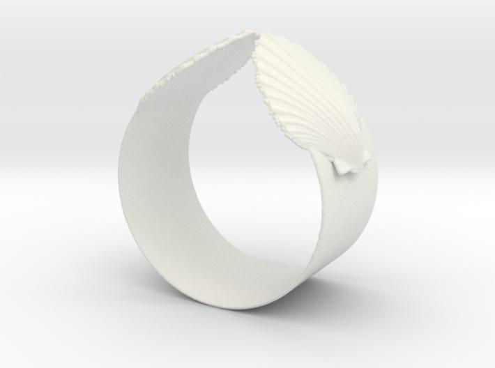 Napkin Scallop Ring 3d printed
