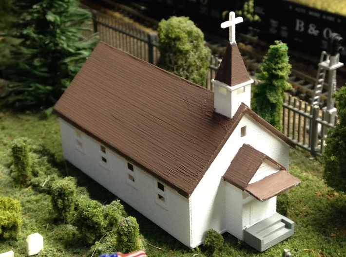 Small Country Church 3d printed Country Church Z scale