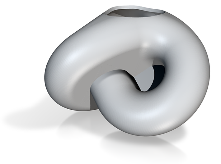Boy surface, diam 6cm, wall 1.4mm, piece 1/2 3d printed