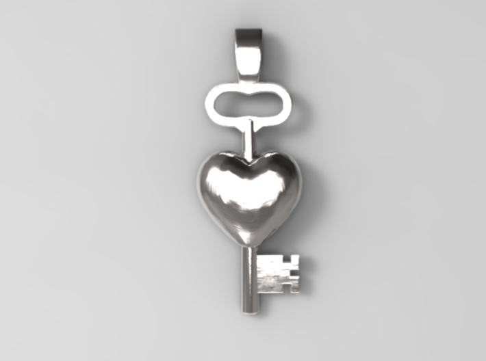 The key to a heart, 002 3d printed