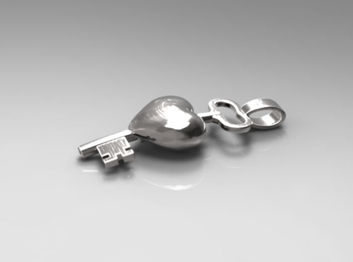 The key to a heart, 002 3d printed 3D Preview Render