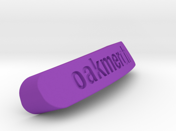 Oakmerch Nameplate for SteelSeries Rival 3d printed