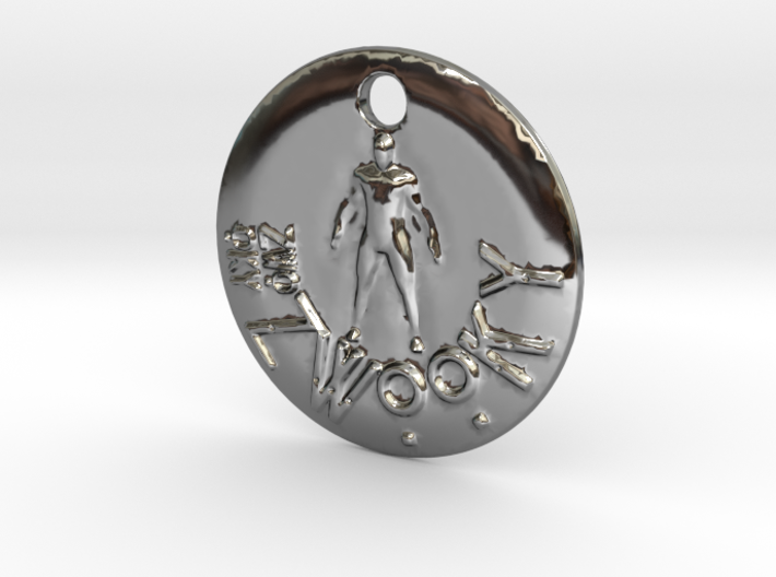 ZWOOKY Style 300 - pendant man 3d printed