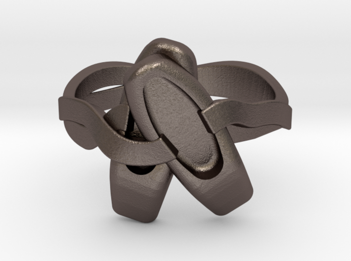 Ballet Ring, size 17 3d printed
