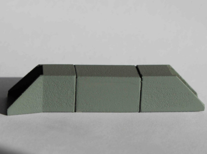 N/H0 Box Culvert (size 1) 3d printed The Single Track Culvert Set in White Strong & Flexible, sanded and painted twice.