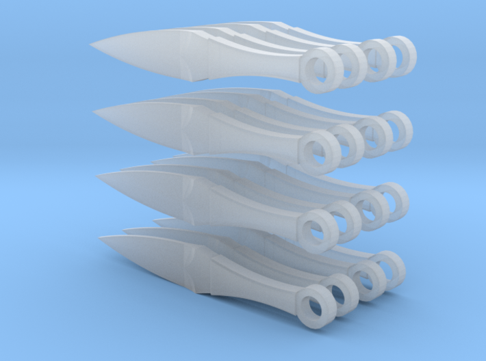 1:6 scale Kunai set 3d printed