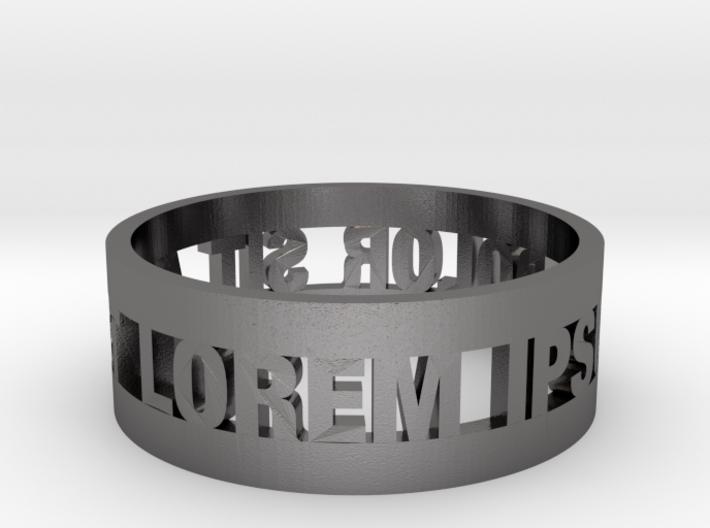 Loremipsum Ring 3d printed