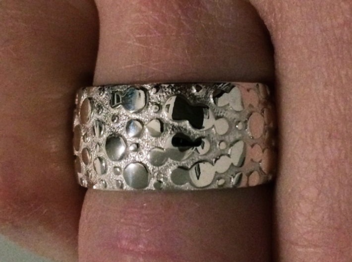 Nubbed Ring - Size 9 3d printed Polished Silver