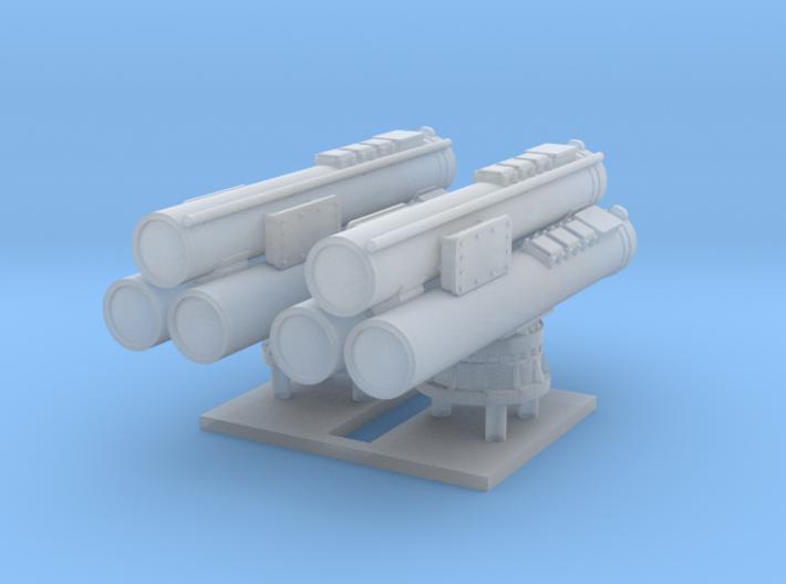 Mk32 Torpedo tubes x 2 - 1/144 3d printed
