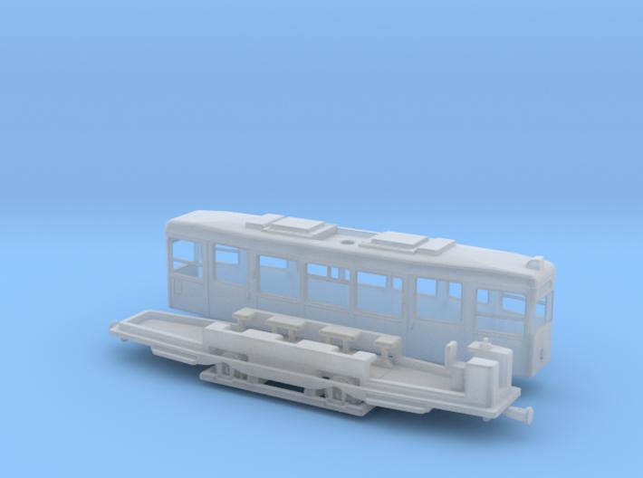 Z Gauge 1:220 Straßenbahn Tw721 Steuerwagen 3d printed