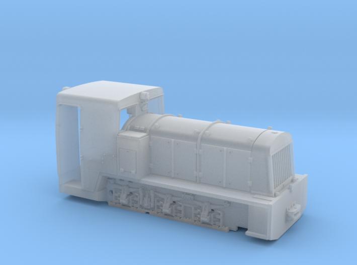 Französische Feldbahnlok Billard T100 1:76 3d printed