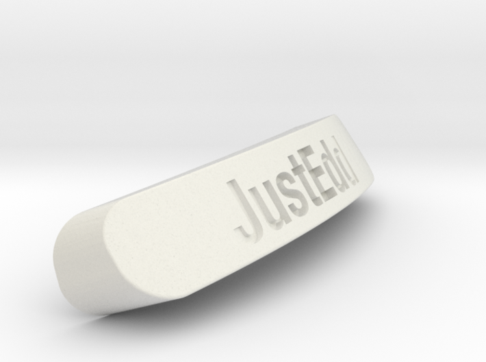 JustEdd Nameplate for SteelSeries Rival 3d printed