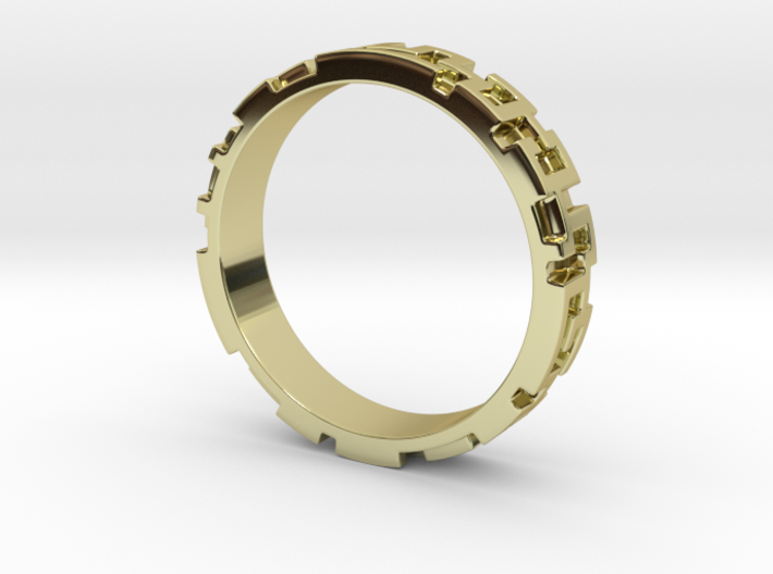 A maze ring (from $12.50) 3d printed
