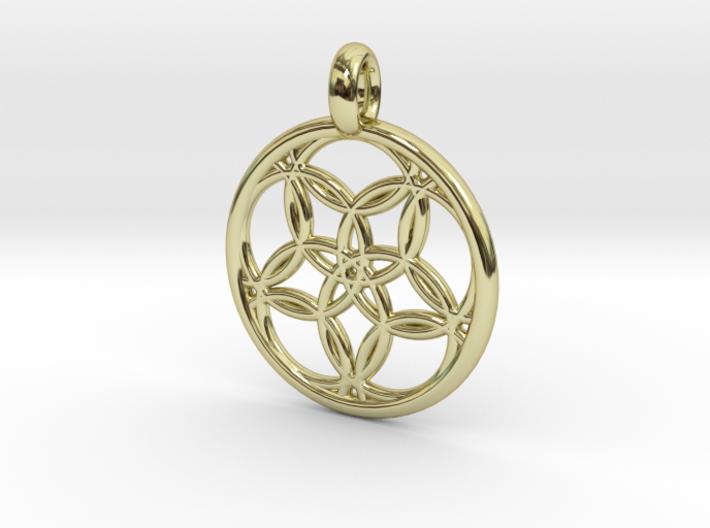 Hegemone pendant 3d printed