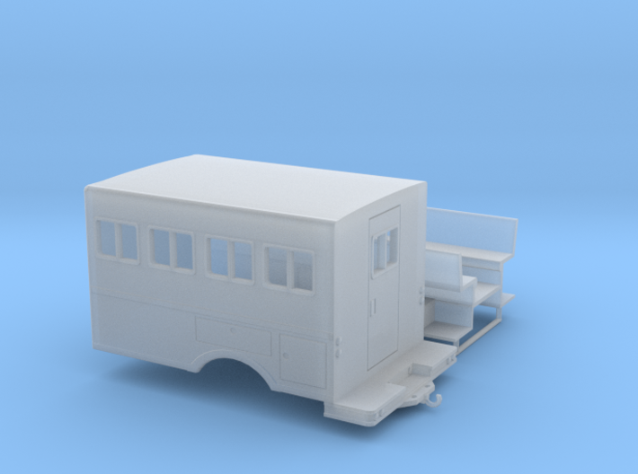 1/87th logging or fire crew transport 'Crummy' Bus 3d printed