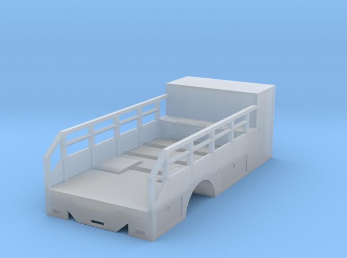 1/87th HO Scale Tire Service Truck Single axle Bod 3d printed