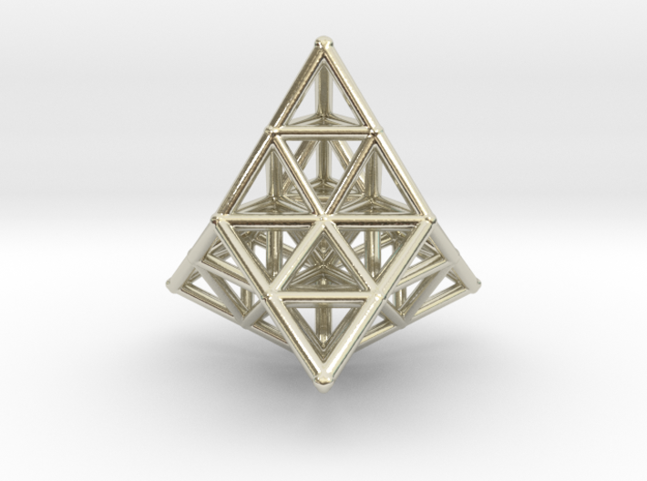 20 TETRAHEDRONS (pendant) 3d printed