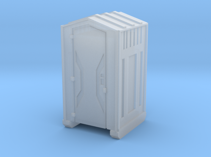 Z Scale Portable Toilet 3d printed