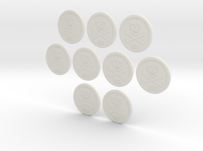 Bases: Jolly Rogers 3 Pack 3d printed