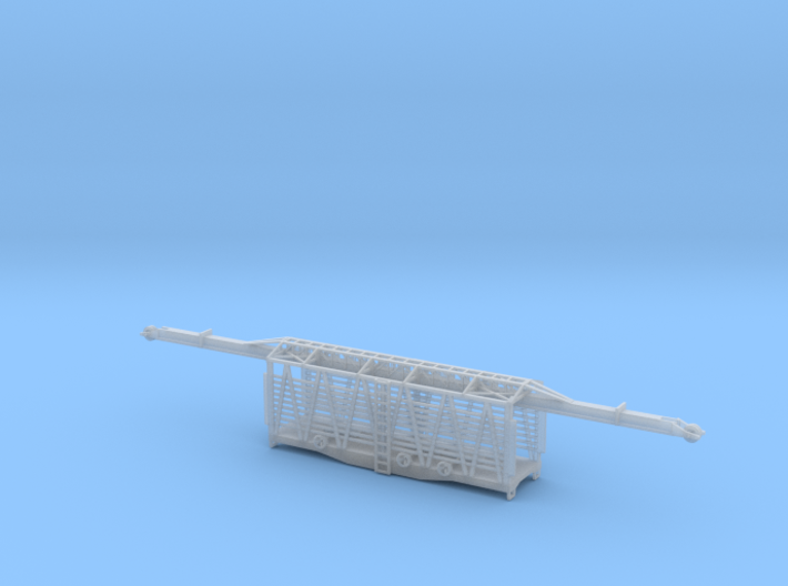34 Ft MOW Rail Car Z Scale revised 3d printed