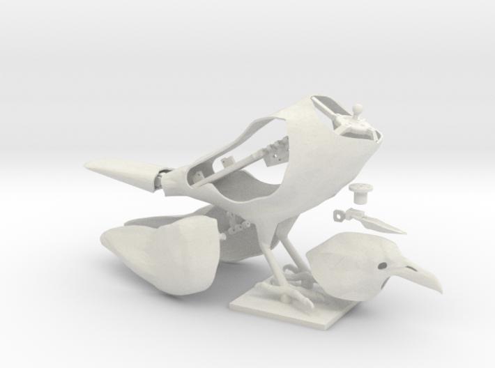 Animatronic Crow (Neutral Pose) 3d printed