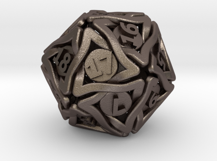 'Twined' Dice D20 Spindown Life Counter Die 24mm 3d printed