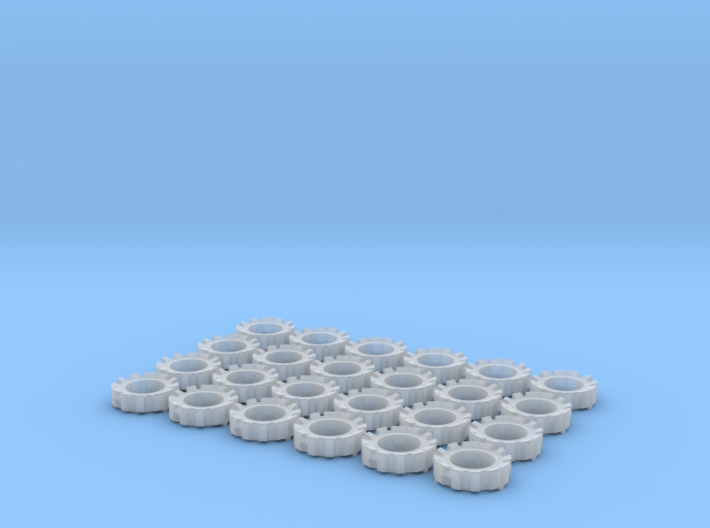 1/64 Wheel Weights Outers (24 Pieces) 3d printed