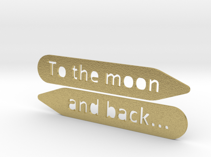Collar stay: To The Moon and back... 3d printed