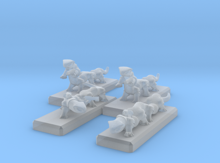 3mm Space Dragons 3d printed