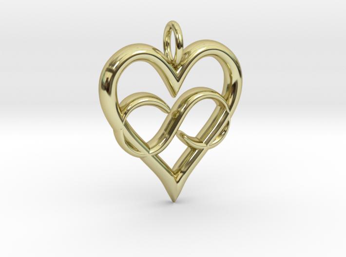 Infinity-heart 3d printed