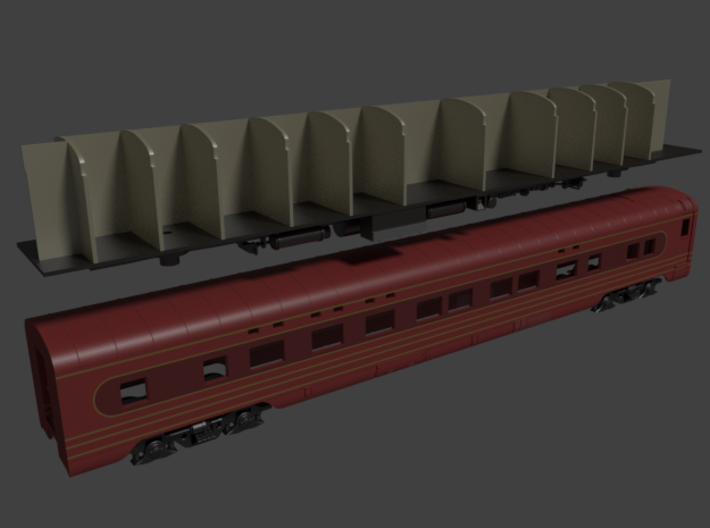 Pullman 4-4-2 sleeper, plan 4069 (1/160) 3d printed Plan 4069 wearing the scheme of the 1938 Broadway Limited
