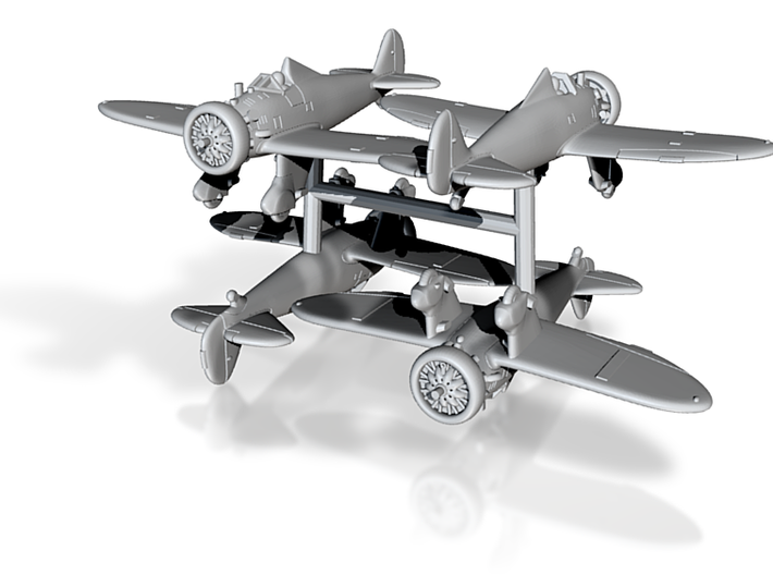 1/200 Boeing P-26A Peashooter (x4) 3d printed
