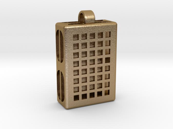 Pixels Hidden Letter [customizable] 3d printed
