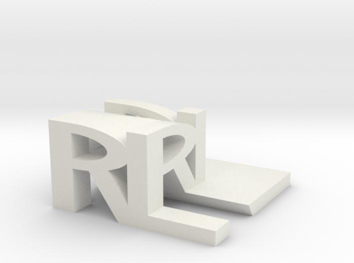RL Monogram Cube 3d printed
