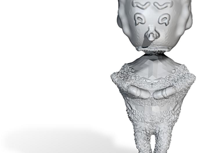 textured sad clown 3d printed