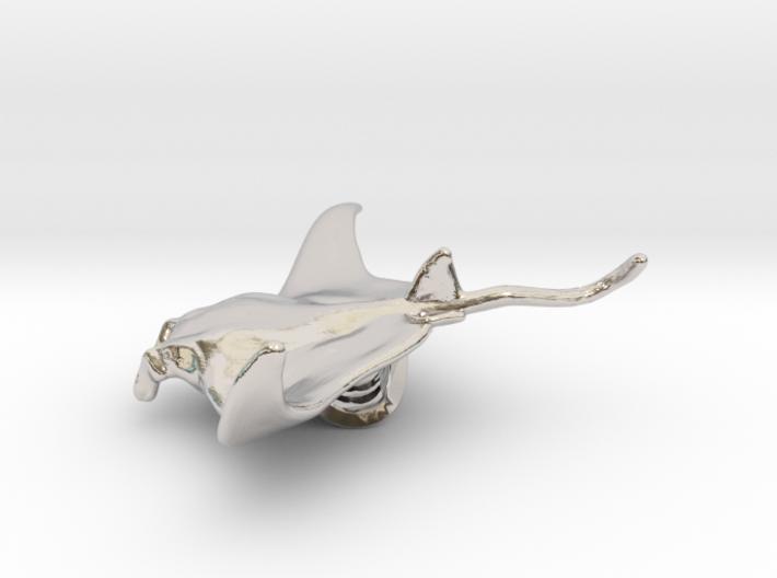 Manta Ray Pendant 3d printed Manta ray pendant by ©2012-2014 RareBreed