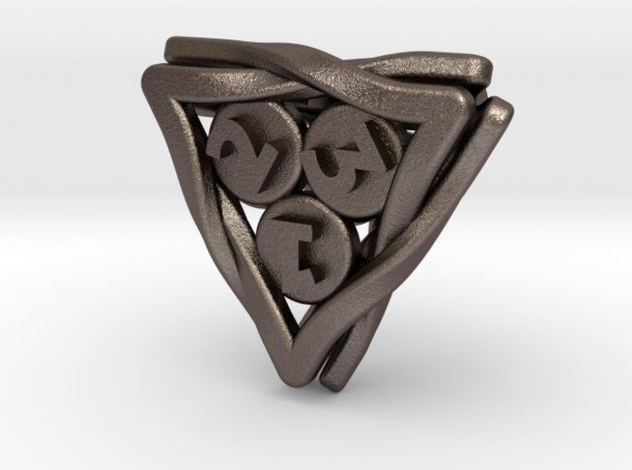 'Twined' Dice D4 Gaming Die 3d printed